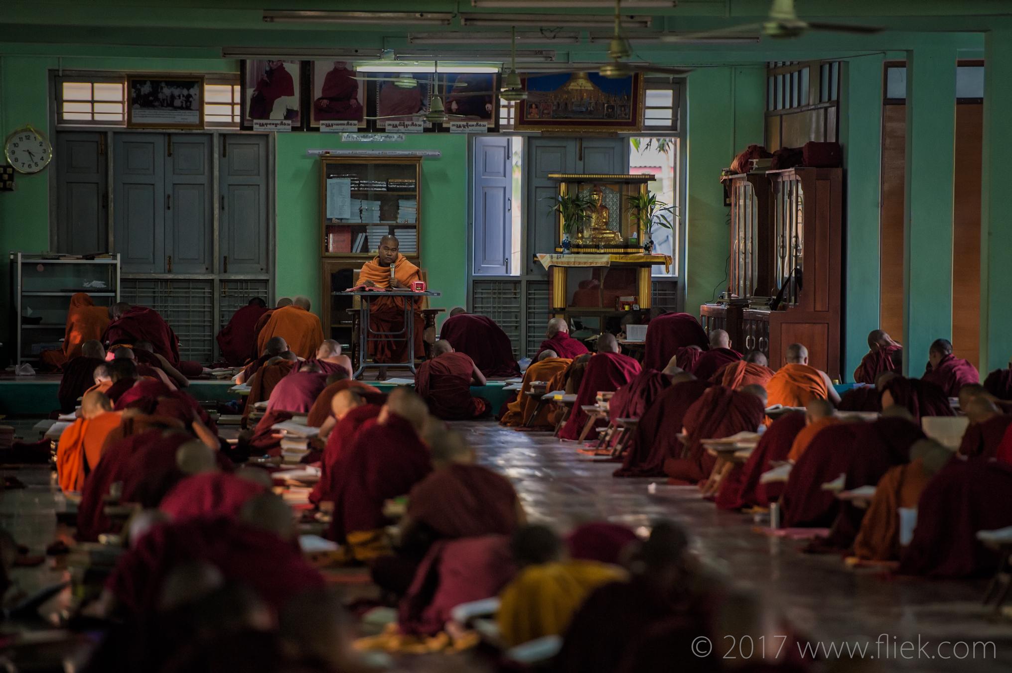 Magical mysterious Myanmar... <br> <i> Mandalay monastery teachings </i>